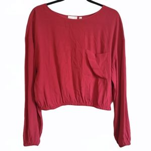 Aritzia Wilfred Free Blouse - Red